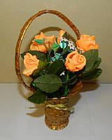 Корзина роз, необычный подарок девушке (женщине) на день рождение
