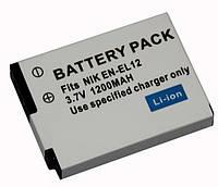 Аккумулятор EN-EL12 аналог 1200 ma камер NIKON COOLPIX P300, S1000pj, S1100pj, S6000, S610, S6100, S610C, S620