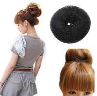 Пончик для создания гульки, пучка,  аксессуар для волос, инструмент для прически, большой, диаметр - 9 см