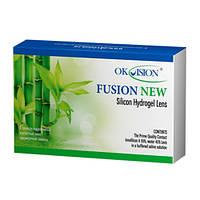 Контактные линзы на месяц OKVision Fusion New (6 шт)+раствор в подарок