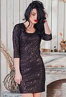 Нарядное женское гипюровое платье