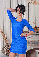 Нарядное женское платье гипюр