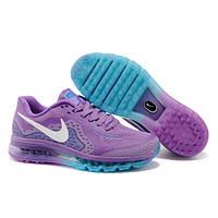 Женские беговые кроссовки Nike Air Max 2014 фиолетовые оригинал
