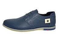 Мужские кожаные туфли Cuddos blue