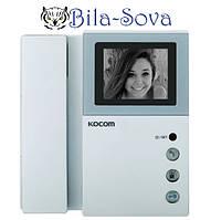 """Черно-белый видео домофон Kocom KVM-301, 4"""", до 2-х видео вызывных панелей"""
