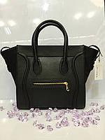 Женская сумка Celine 530 классическая из кожзама черная
