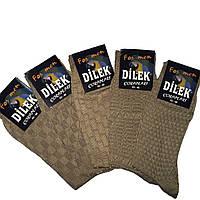 Носки мужские шелк без шва  Dilek ,бежевый р.43-46