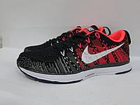 Кроссовки женские Nike (128-13) черно-красные код 0104А