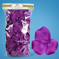 Искусственные лепестки роз фиолетовые 600шт, лепестки на свадьбу.