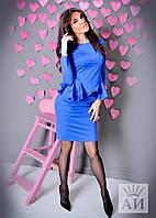 А129 Женский костюм баска+юбкой в расцветках
