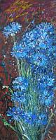 Картина цветы «Васильки» купить картину маслом киев, купить картину для дома
