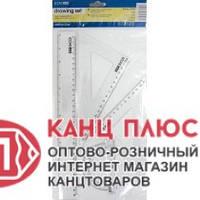 Economix Линейка набор (линейка-30см., 2 треугольника.-13 и 17см., Транспортир) 24/192 арт. Е81305