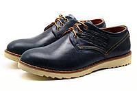 Туфли мужские спортивные Levi's Desert, натуральная кожа, синие, р. 40 45, фото 1