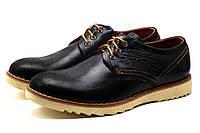 Туфли мужские спортивные Levi's Desert, натуральная кожа, черные, р. 40 41 43 44, фото 1