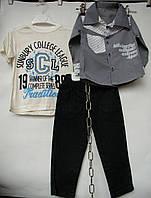 Костюм тройка от 1 года до 4 лет серая рубашка