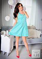 А1219 Платье спереди на молнии в расцветках