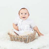 Набор для крещения Андреа (песочник, шапка, пинетки) от  Battesimo от 6 до 12 месяцев