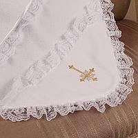 Крыжма махровая для крещения  Battesimo белая