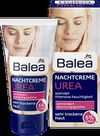 Ночной крем для очень сухой кожи лица с 5% косметической мочевиной  Balea Urea Nachtcreme mit 5 % Urea 50 мл