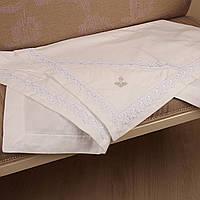 Полотенце для крещения из байки Лоза от Battesimo белое