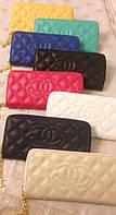Кошелек брендовый женский Chanel шанель копия выбор цветов