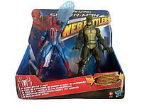Игрушки 2в1 Человек-Паук и Ящер 17СМ - Spiderman&Lizard/Web Battlers/Hasbro