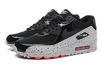 Кроссовки мужские черные Nike Air Max 90 для спорта, бега (модные спортивные новинки весна, лето, осень)