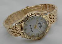 Часы женские ROLEX -  Oyster Perpetual, цвет корпуса золотой, циферблат белый