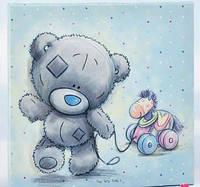 Картина голубая с мишкой Тедди Me To You