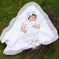 Крыжма  для крещения Ажурная  от Miminobaby белая
