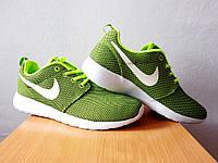 Nike Roshe Run р-р 41-46, найк раш ран кроссовки 2016 зелёные, adidas reebok