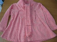 Детская тепленькая кофточка -платье для маленькой девочки 2-3 года Турция