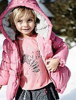Удлиненная курточка для девочки/Подовжена куртка для дівчинки. ТМ 3 pommes (Франция). Размеры 86, 98 см.