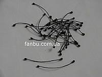 Искусственные цветочные тычинки черного цвета двусторонние 6 см (1 упаковка - 20 ниточек)