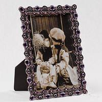 """Рамочка для фотографии """"Кристаллы"""" 13х17 см, для фото 10х15 см"""