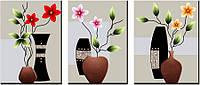 """Набор для рисования стразами """"Цветы в вазах"""""""