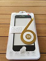 Защитное стекло для iPhone 6/6s с цветной рамкой black