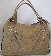 Бежевая сумка с хольнитенами  Velina Fabbiano