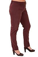 Вельветовые брюки женские теплые   коричневые зауженные дудочки бр 011-12.