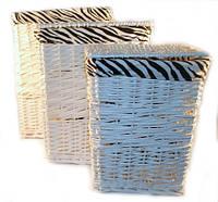 Корзины для хранения вещей, игрушек плетеные, набор 3 шт