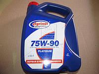 Масло трансмиссионное Агринол PLATINUM SAE 75W-90, API GL-5 (Канистра 4л/3,4кг) 75W-90