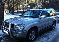 Комплект автомобильных дефлекторов окон ветровиков Toyota Land Cruiser 100 5d 1998/Lexus LX (UZJ100) 1998-2001 (Тойота ленд крузер 100) Cobra Tuning