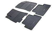 Комплект резиновых ковриков в автомобиль (полиуритановые) Daewoo Lanos 97 (Деу Ланос) (2 шт) передние, Stingray