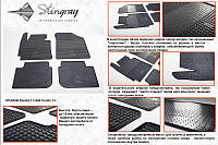 Комплект резиновых ковриков в автомобиль (полиуритановые) Kia Cerato 12 (Киа Керато) (4 шт), Stingray
