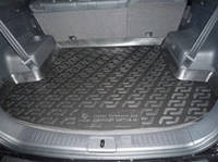 Полиуритановый коврик в багажник автомобиля Chevrolet Captiva (06-) (Шевроле Каптива), Lada Locker