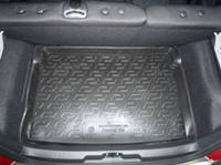 Полиуритановый коврик в багажник автомобиля Peugeot 207 НВ (06-) (Пежо 207), Lada Locker