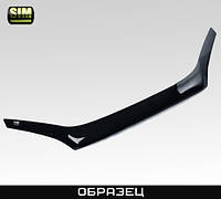 Дефлектор капота автомобиля (мухобойка) RENAULT Megane HB 08- темный (Рено Меган) SIM