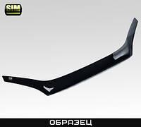 Дефлектор капота автомобиля (мухобойка) RENAULT Megane SD, HB, WG, 06-09, короткий, темный (Рено Меган) SIM