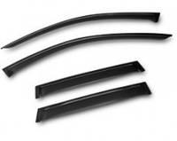 Комплект автомобильных дефлекторов окон ветровиков Kia SOUL 2014 темный (Киа Соул) Autoclover