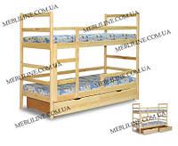 """Двухъярусная кровать """"Никодим"""" с бортиками на нижнем ярусе"""